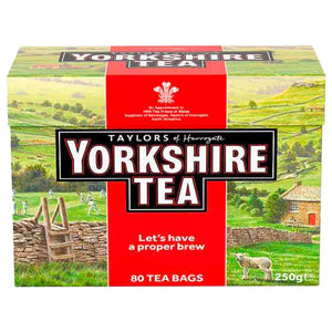 80 Teabags in a box. Yorkshire Tea