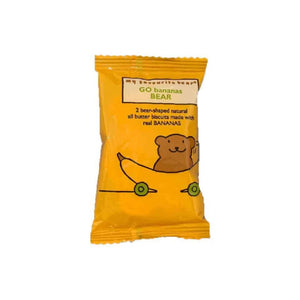 pack of 2 go bananas bear biscuits