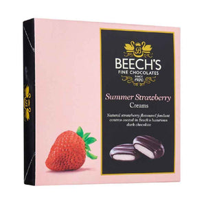 Summer strawberry creams from Beech's Fine chocolates, in pink box