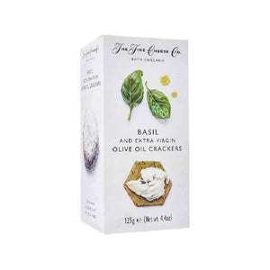 The Fine Cheese Co Basil and Extra Virgin Olive Oil Crackers 125g