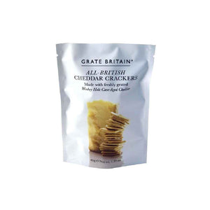 Grate Britain All-British Cheddar Crackers made with freshly grated Wookey Hole Cave-Aged Cheddar