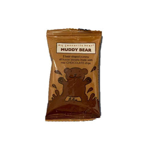 pack of 2 fun chocolate bear-shaped biscuits from Artisan Biscuits