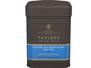 metal caddy of Taylors tea room blend leaf tea 125 grams