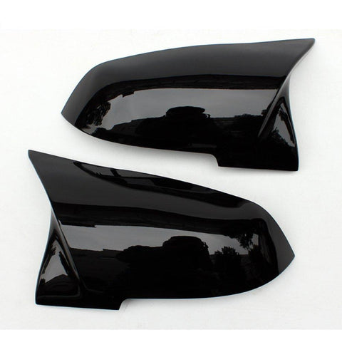 Gloss Black Performance Side Mirror Replacement Caps for BMW 1-Series F20/F21, 2-Series F22/F23, 3-Series F30/F31, 4-Series F32/F33/F34/F36, M2 F87
