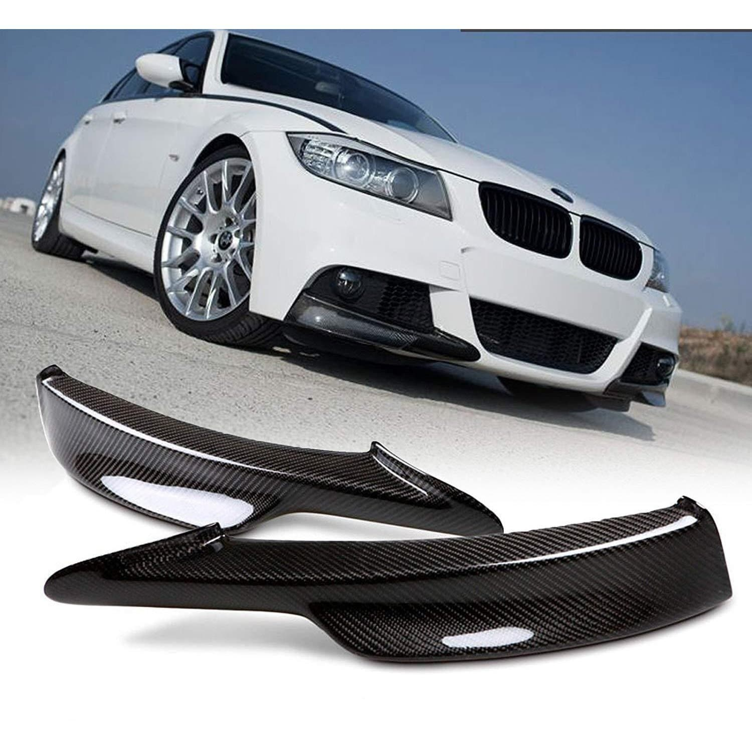 Carbon Fiber Front Bumper Splitters for BMW E90/E91 3-Series 2009-2011