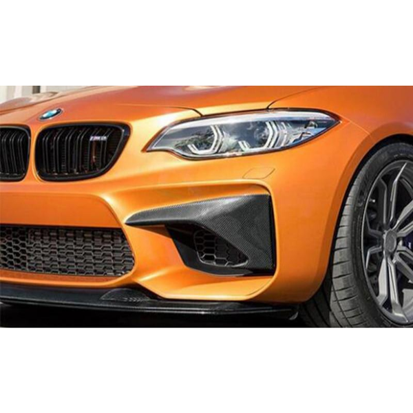 Carbon Fiber Front Bumper Splitters for BMW F87 M2 - ONVY Motorsport