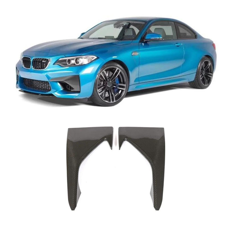 Carbon Fiber Front Bumper Add-ons for BMW F87 M2