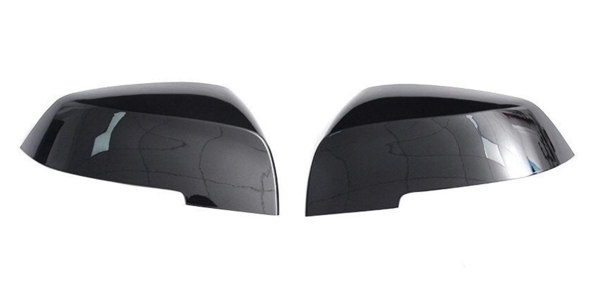 Gloss Black Side Mirror Replacement Caps for BMW 1-Series F20/F21, 2-Series F22/F23, 3-Series F30/F31, 4-Series F32/F33/F34/F36, M2 F87