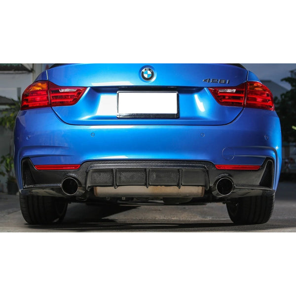Dual Side Exhaust Carbon Fiber Rear Diffuser for BMW F32/F33/F36 4-Series M-Sport