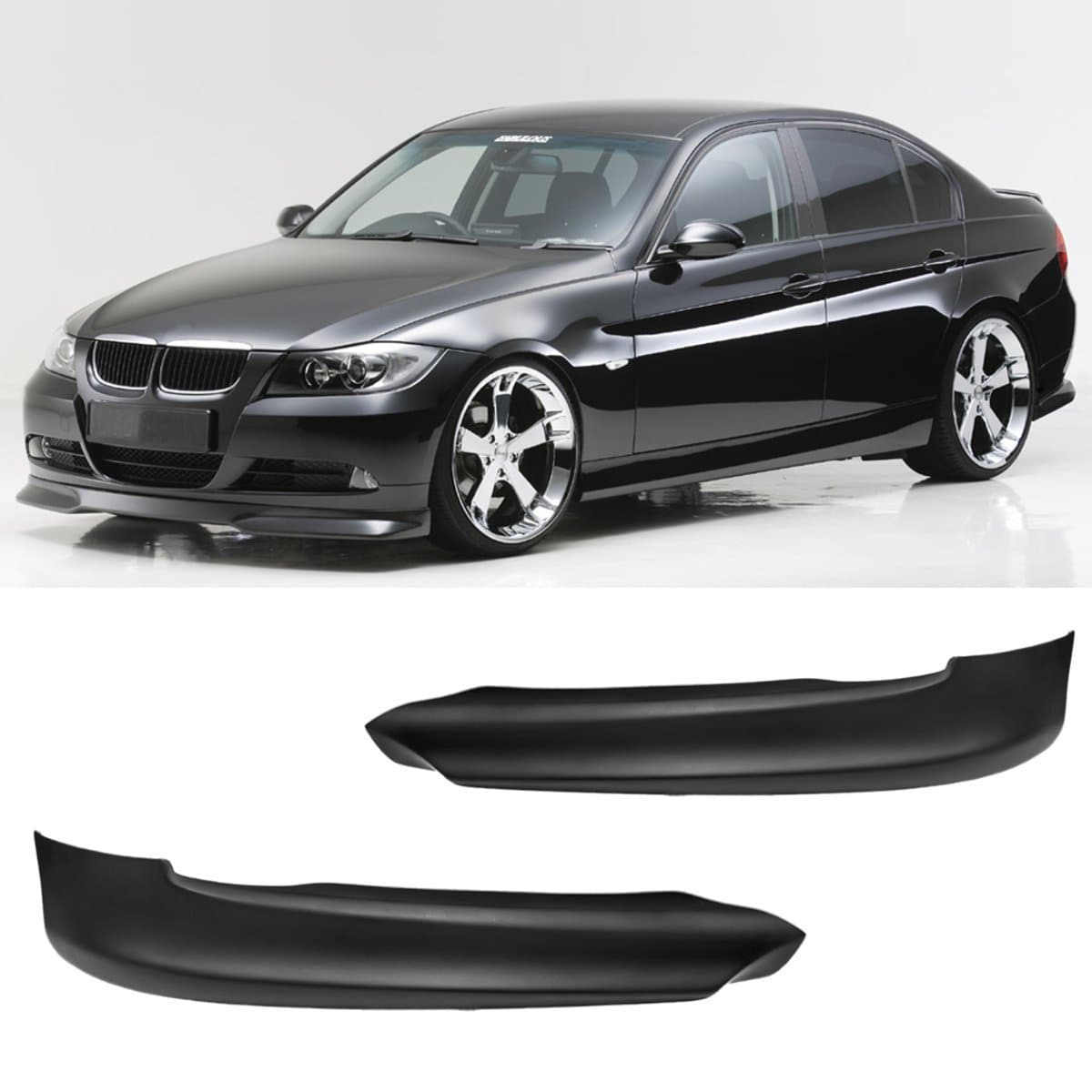 Front Bumper Splitters for BMW E90/E91 3-Series 2005-2008