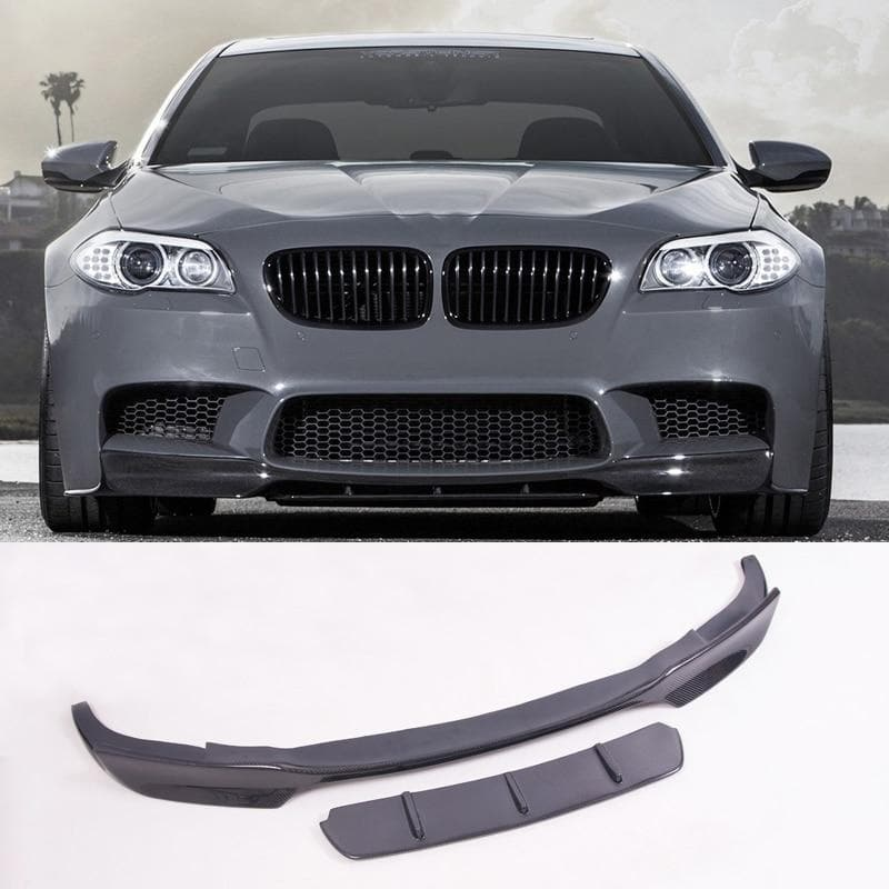 Carbon Fiber Front Lip with Splitter for BMW F10 M5