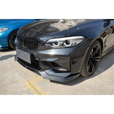 Carbon Fiber Front Lip with Splitter for BMW M2 F87