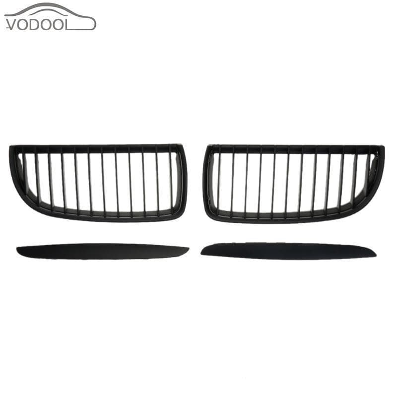 Matte Black Kidney Grilles for BMW E90/E91 2005-2008