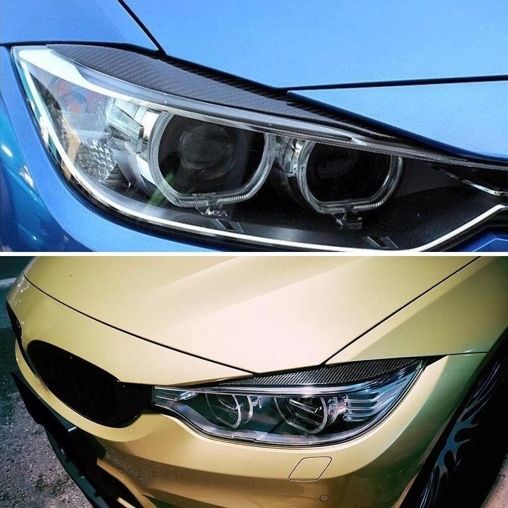 Carbon Fiber Headlight Eyelid Cover for 4-Series, M3 and M4