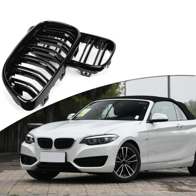 Gloss Black Performance Kidney Grilles for BMW 2-Series F22/F23 2014- & F87 M2 2016-