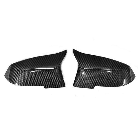 Carbon Fiber M-Style Side Mirror Replacement Caps for BMW 1-Series F20/F21, 2-Series F22/F23, 3-Series F30/F31, 4-Series F32/F33/F34/F36, M2 F87 - ONVY Motorsport