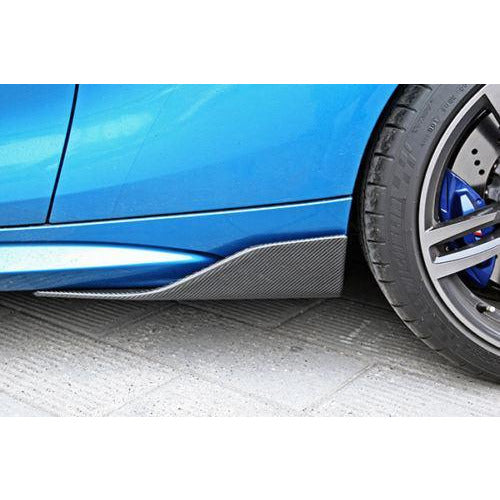 Carbon Fiber Side Skirt Winglets for BMW M2 F87