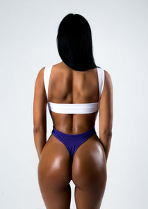 White-Violet Joint Swimsuit