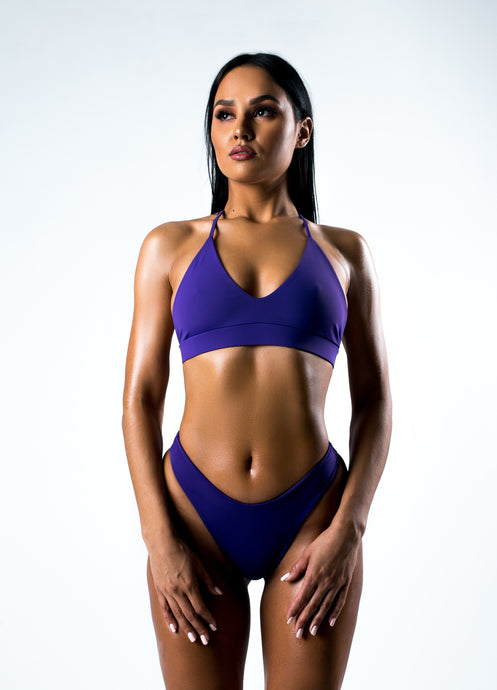 Violet Split Swimsuit