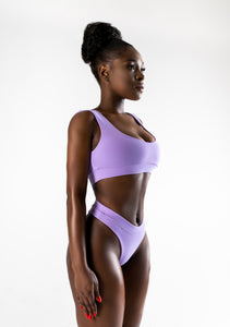 Lilac Split Swimsuit