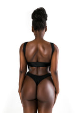Load image into Gallery viewer, Black Cutout Swimsuit