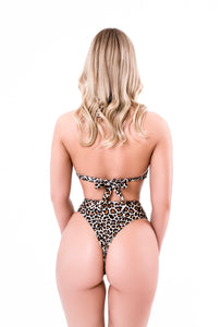 Leopard Split High Bikini Swimsuit