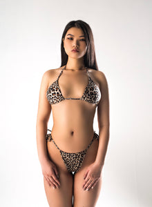 Leopard Split Mini Swimsuit