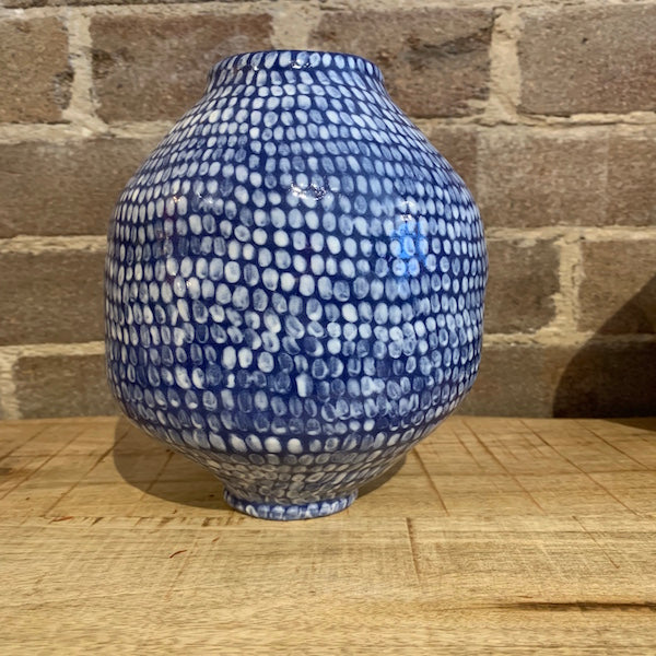Handmade by Eli Speckled Blue Vase