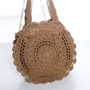 Bohemian Straw Storage Bag