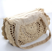 Load image into Gallery viewer, Bohemian Straw Storage Bag