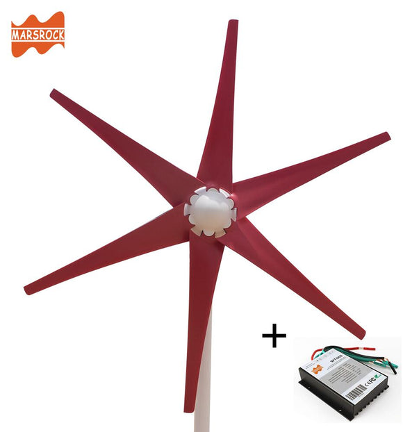 AC12V/24V Colorful Wind Turbine Generator Small Windmill for Home or Boat  600W