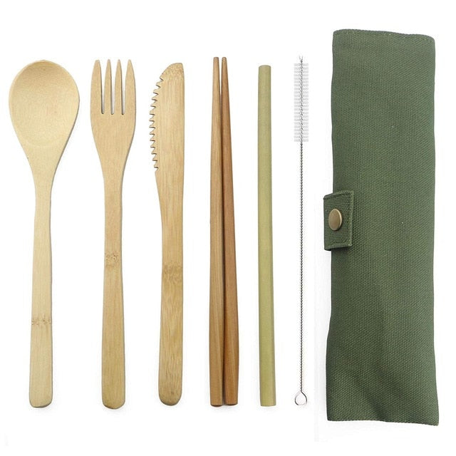 Wooden Flatware Set