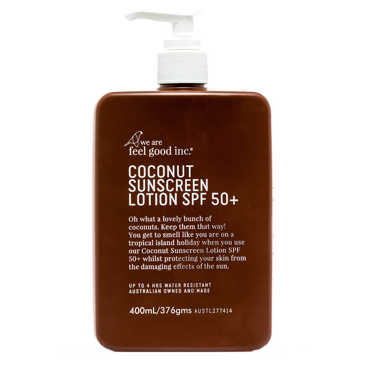 Coconut Sunscreen Lotion SPF 50+, 400ml