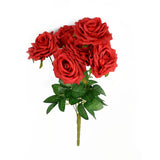 Rose Bunch Bloom x6 Red