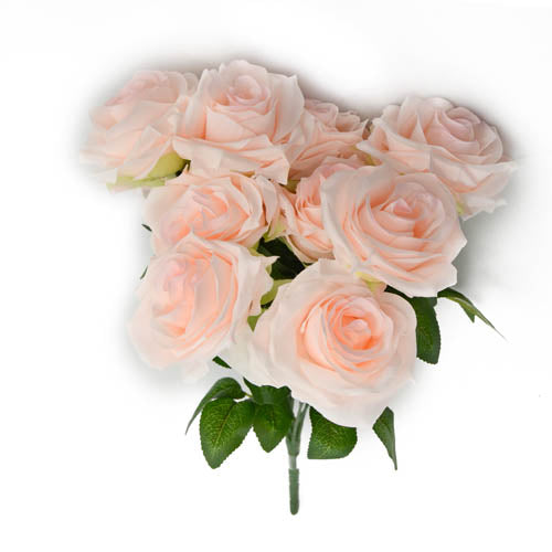 Rose Bunch N X10- Lt.Peach