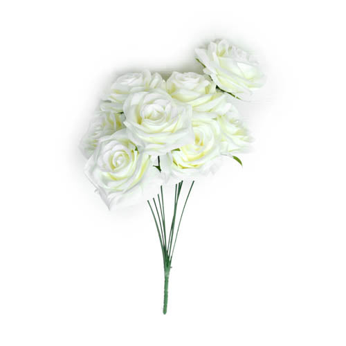 ROSE BUNCH X10 DECOR WH