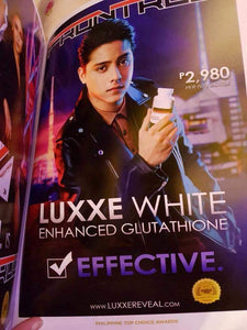 Luxxe White Enhanced Glutathione 60 Capsules (775mg) made in USA
