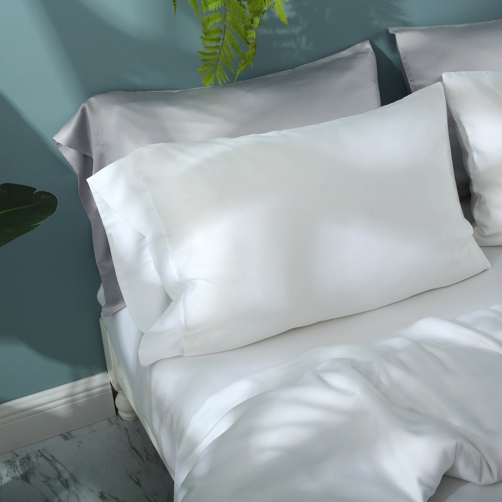 Agate White Fitted Sheet Set - EASVEN