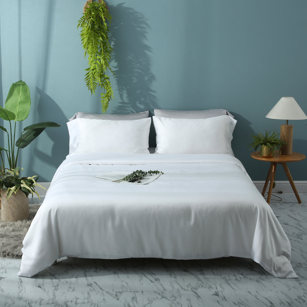 Agate White Duvet Cover Set - EASVEN