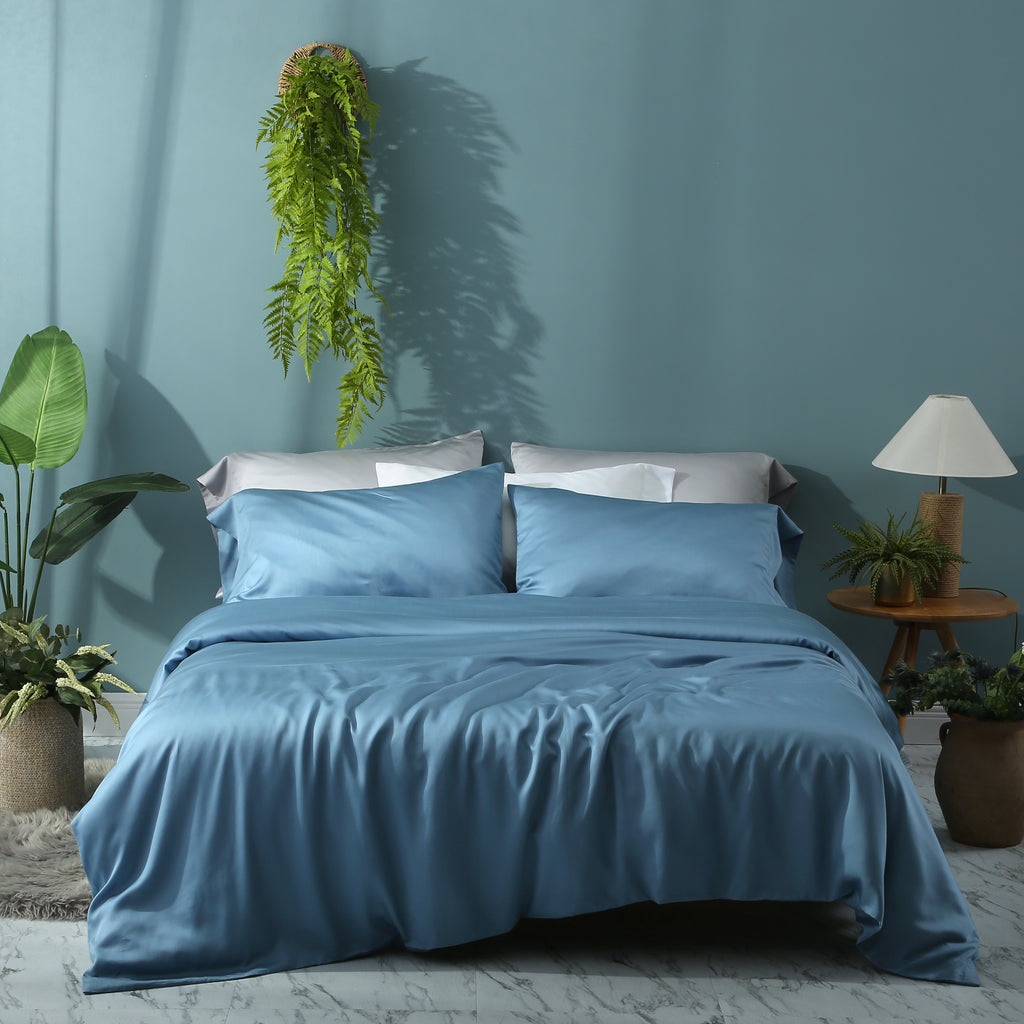 Moonlake Blue Duvet Cover Set