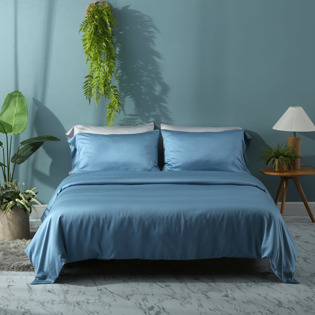 Moonlake Blue Duvet Cover Set - EASVEN