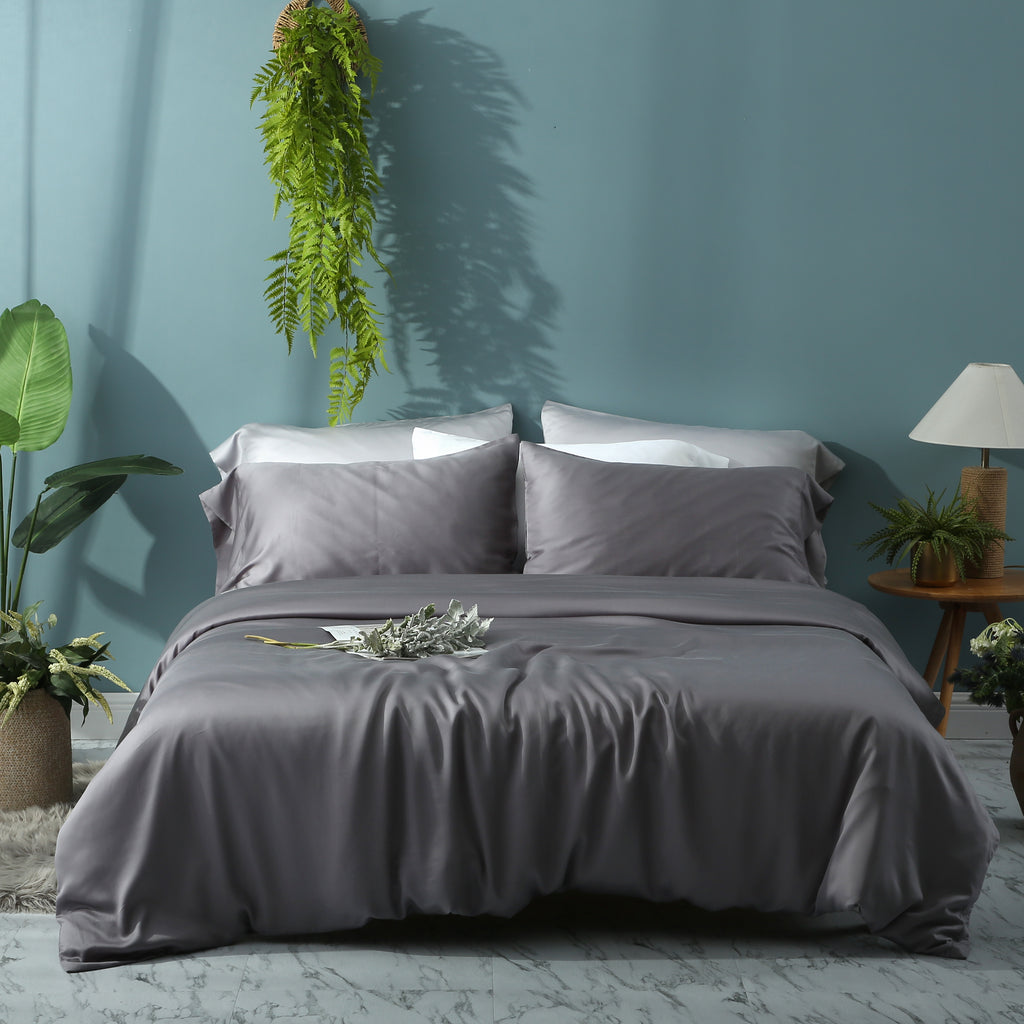Noble Grey Duvet Cover Set - EASVEN