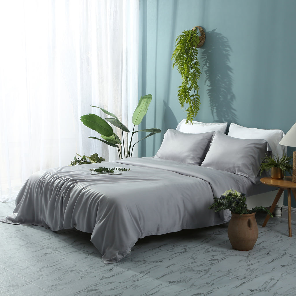 Tempered Grey Duvet Cover Set - EASVEN