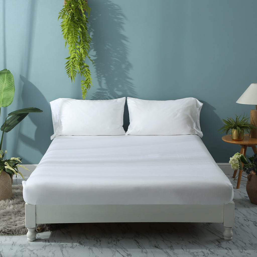 Agate White Fitted Sheet Set