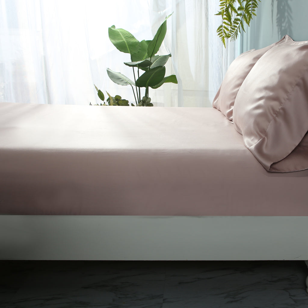 Pink Nectar Fitted Sheet Set - EASVEN