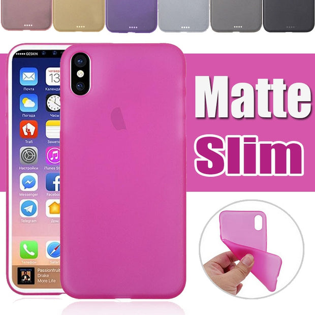 10pcs 0.3mm Ultra Thin Slim PP Shockproof Transparent Clear Matte Frosted Soft Cover For IPhone XS Max XR X 8 7 6 Plus Case