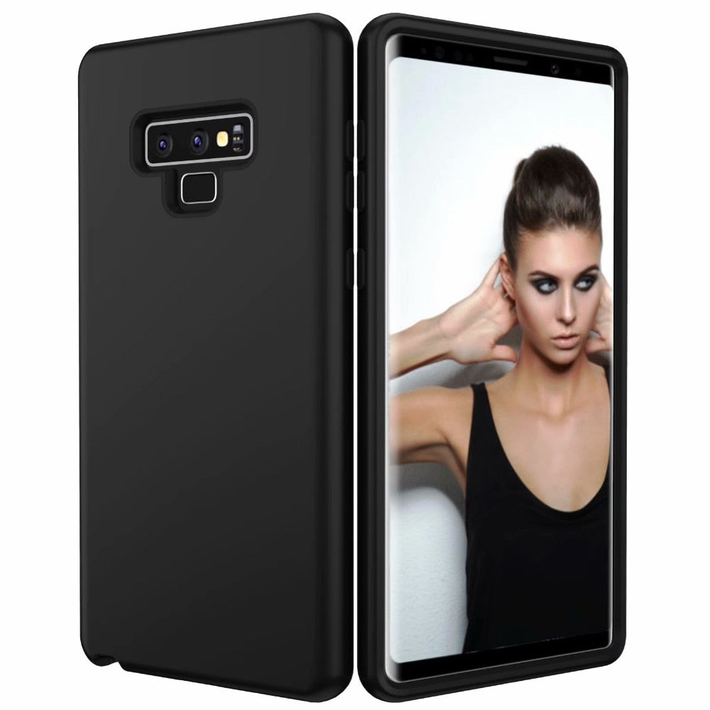 3 In 1 PC Rubber Combo Shockproof Hard Slim Armor Defender Case Cover For Samsung Galaxy Note 9