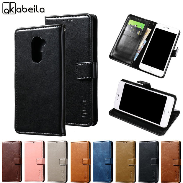 timeless design dbc79 abbf9 AKABEILA Phone Cover Case For Vodafone Smart V8 VFD710 VFD 710 VFD-710 5.5  Inch Stand Flip Wallet PU Leather Cases Card Hold
