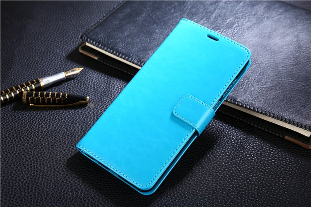 "AZNS Deluxe Wallet Stand Leather Case Cover For Huawei Honor 7X 5.93"" With Business Card Holder Phone Leather Case Cover"