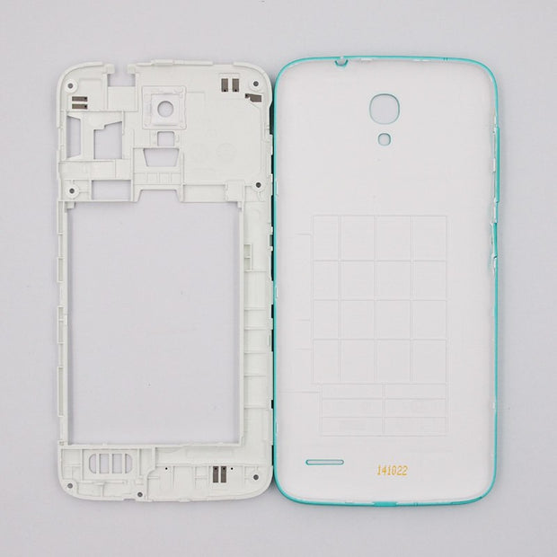 BaanSam New Dual Card Middle Frame Battery Back Cover For Alcatel Onetouch 5042 Housing Case With Power Volume Buttons